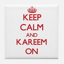 Keep Calm and Kareem ON Tile Coaster