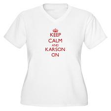 Keep Calm and Karson ON Plus Size T-Shirt