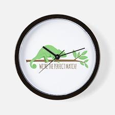 Chameleon Lizard Perfect Match Love Wall Clock
