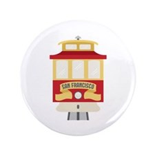 "Cable Car San Francisco 3.5"" Button (100 pack)"