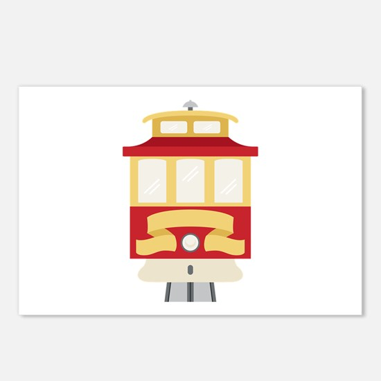 Cable Car Trolley Postcards (Package of 8)