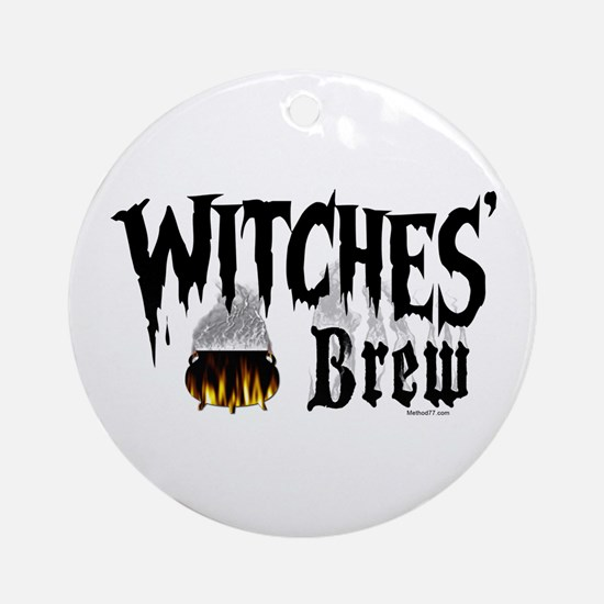 Witches Brew Ornament (Round)