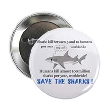 Save the Sharks Button