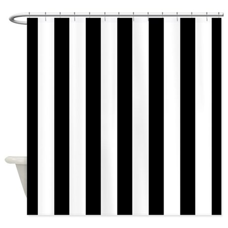 Striped Black And White Shower Curtain By Mainstreethomewares