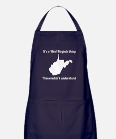 Its A West Virginia Thing Apron (dark)