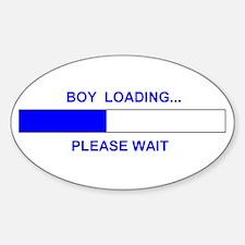 BOY LOADING... Oval Decal