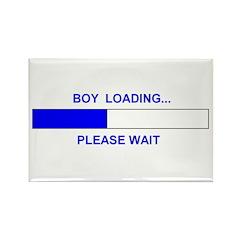 BOY LOADING... Rectangle Magnet