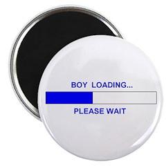 BOY LOADING... Magnet