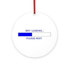 BOY LOADING... Ornament (Round)