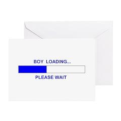 BOY LOADING... Greeting Card