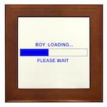 BOY LOADING... Framed Tile