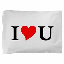I Love U Pillow Sham