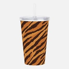 Tiger Fur Acrylic Double-wall Tumbler
