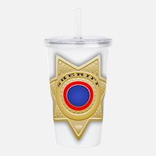 Sheriff badge Acrylic Double-wall Tumbler