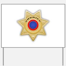 Sheriff badge Yard Sign