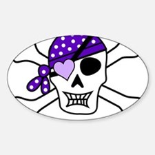 Purple Pirate skull and crossbones Decal