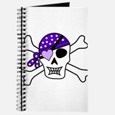 Purple Pirate skull and crossbones Journal