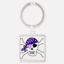 Purple Pirate skull and crossbones Keychains