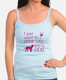 Drink Wine and Pet Dog Tank Top