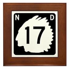 Highway 17, North Dakota Framed Tile