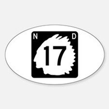 Highway 17, North Dakota Decal
