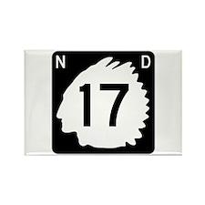 Highway 17, North Dakota Rectangle Magnet