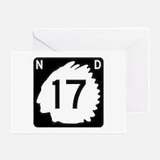 Highway 17, North Dakota Greeting Cards (Pk of 10)