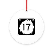 Highway 17, North Dakota Ornament (Round)