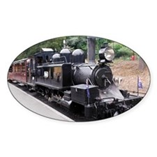 Black and White Old Fashioned Steam Decal