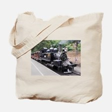 Restored Old Fashioned Steam Train Engine Tote Bag