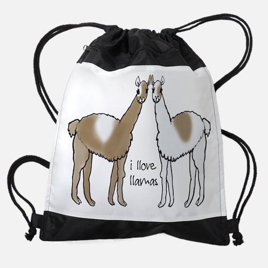 I Llove Llamas Drawstring Bag