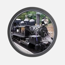 Restored Old Fashioned Steam Train Engi Wall Clock