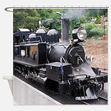 Restored Old Fashioned Steam Train Shower Curtain