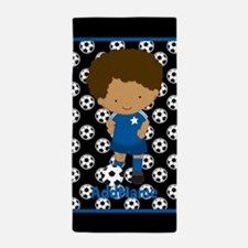 Personalized Kid's Soccer Beach Towel