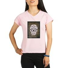Sugar Skull (black and whi Performance Dry T-Shirt