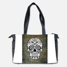 Sugar Skull (black and white) Diaper Bag