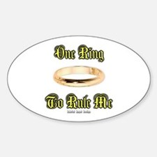 One Ring Oval Decal