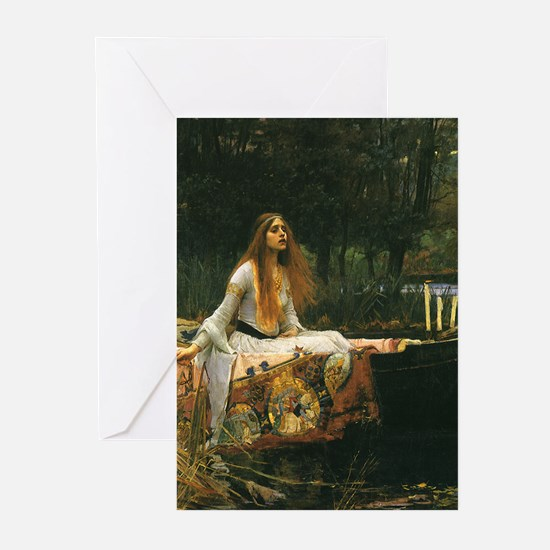 Lady of Shalott by JW Waterhouse Greeting Cards