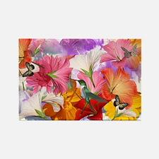 Hibiscus Butterflies 2 Rectangle Magnet