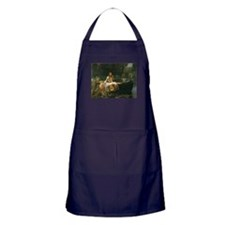 Lady of Shalott by JW Waterhouse Apron (dark)