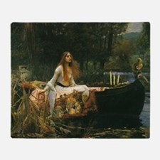Lady of Shalott by JW Waterhouse Throw Blanket