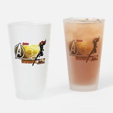 The Avengers Black Widow Action Drinking Glass