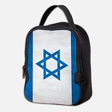 Grunge Flag Of Israel Neoprene Lunch Bag