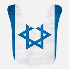 Grunge Flag Of Israel Bib