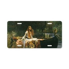 Lady of Shalott by JW Water Aluminum License Plate