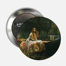 "Lady of Shalott by JW Water 2.25"" Button (10 pack)"
