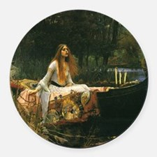 Lady of Shalott by JW Waterhouse Round Car Magnet