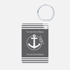 Gray and White Anchor and Keychains