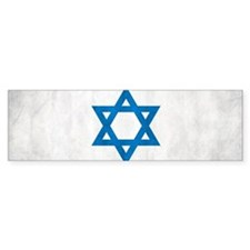 Grunge Flag Of Israel Bumper Bumper Sticker