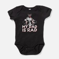 Snoopy - My Dad is Rad Baby Bodysuit